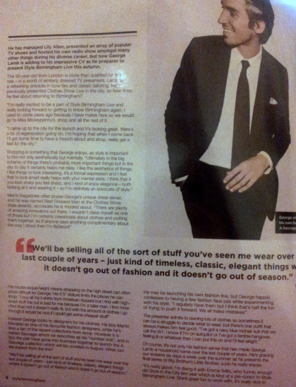 George Lamb interview 2