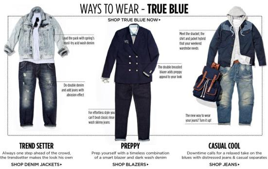 Ways to wear True Blue